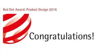 DaE Internation won 2016Red Dot Design Award Prize